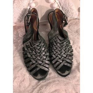 DKNY metallic heels